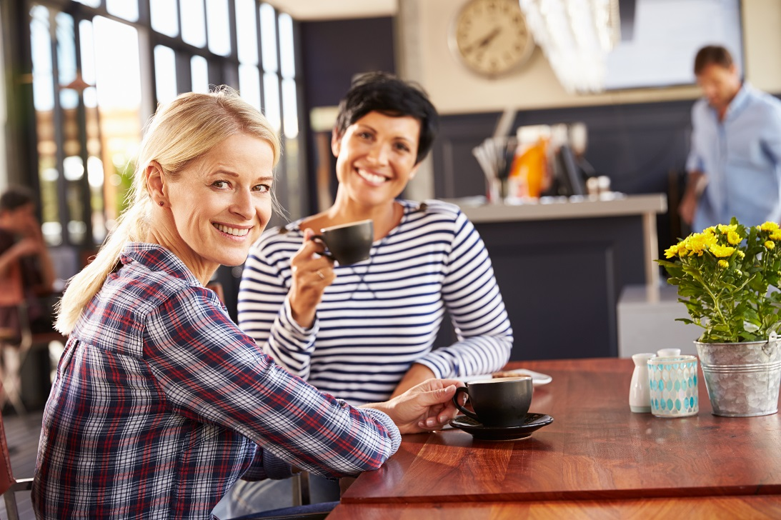 Two Women At A Coffee Shop